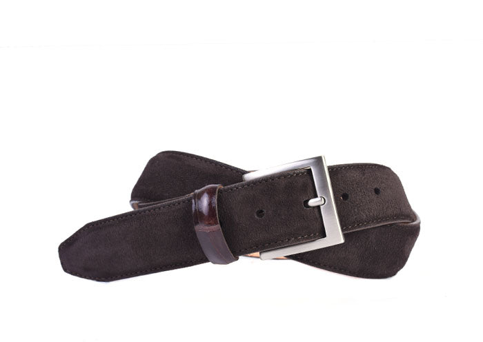 Safari Genuine African Kudu Suede Belt - Walnut