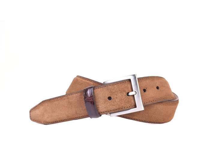 Safari Genuine African Kudu Suede Belt - Tobacco