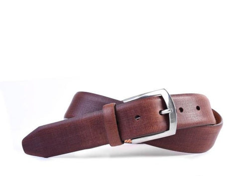 Redford Micro Grid Italian Saddle Leather