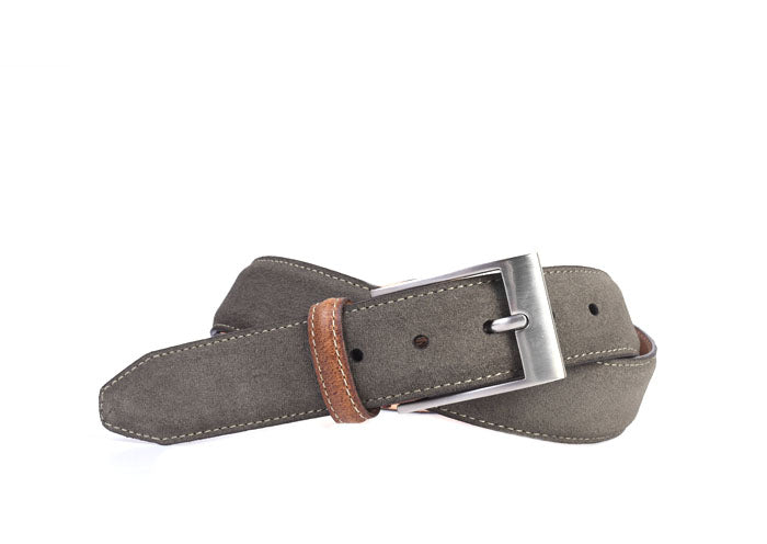 Royal Water Repellent Suede Belt - Moss
