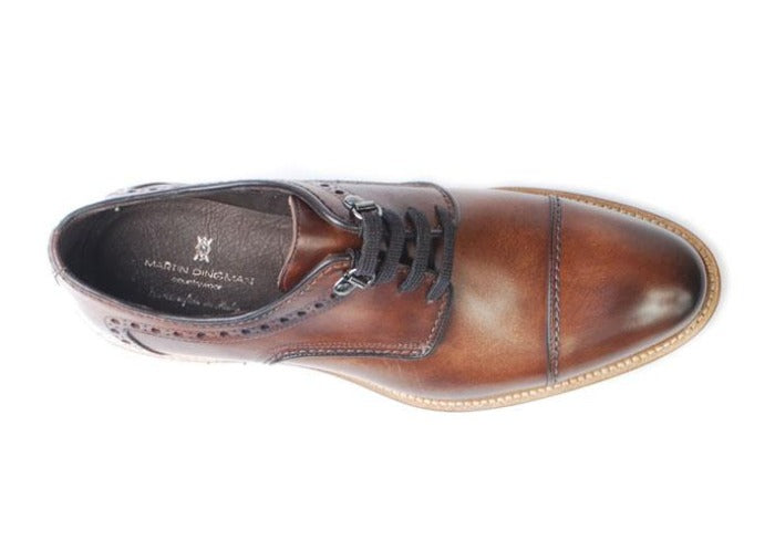 Tuscan Italian Saddle Leather Cap Toe - Whiskey