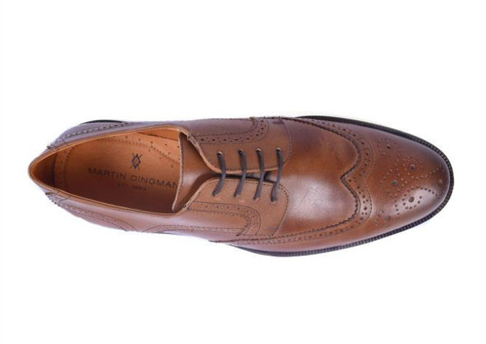 Charleston Dress Calf Leather Wingtip - Chestnut
