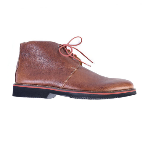 Wakefield Pebble Grain Leather Chukka Boot - Oak