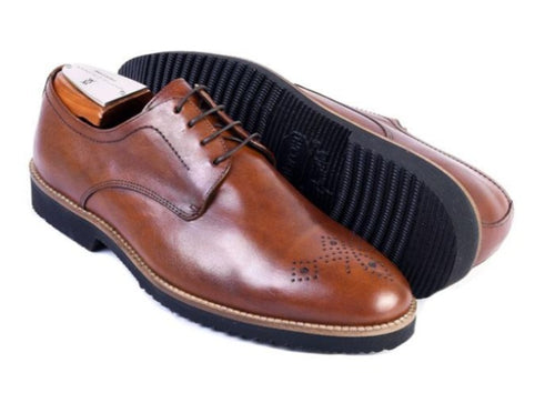 Liverpool Saddle Leather Plain Toe Blucher