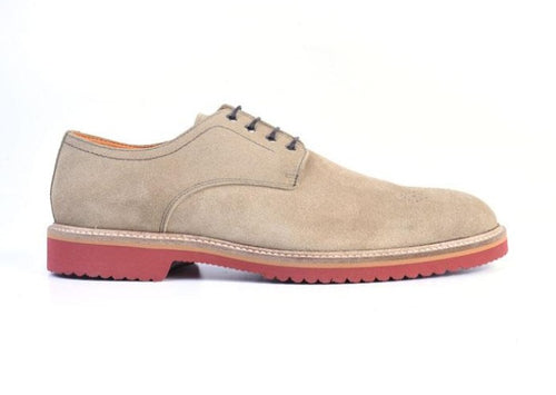 Liverpool Water Repellent Suede Plain Toe Blucher - Sand