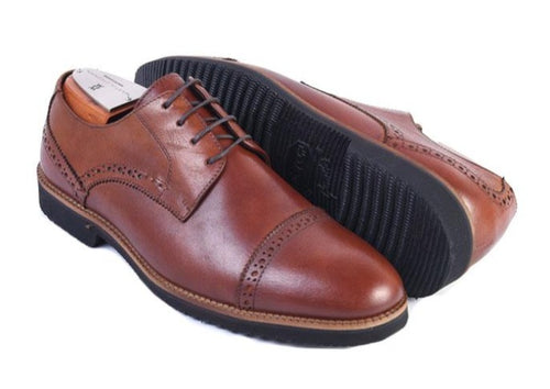 Liverpool Saddle Leather Cap Toe Blucher