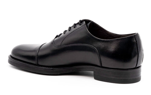 Campania Saddle Leather Cap Toe - Black