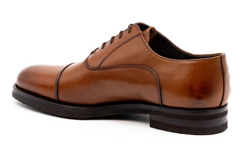 Campania Saddle Leather Cap Toe - Whiskey