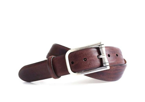 Aiken Italian Leather Belt - Walnut