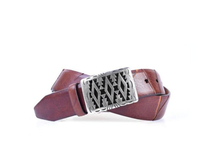 Ainsley Italian Leather Belt - Acorn