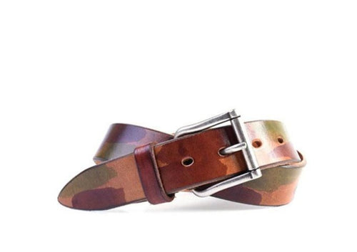 Artisan Italian Bridle Leather Belt - Camo Green