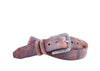 Everett Vintage Waxed Italian Saddle Leather Belt - Chestnut