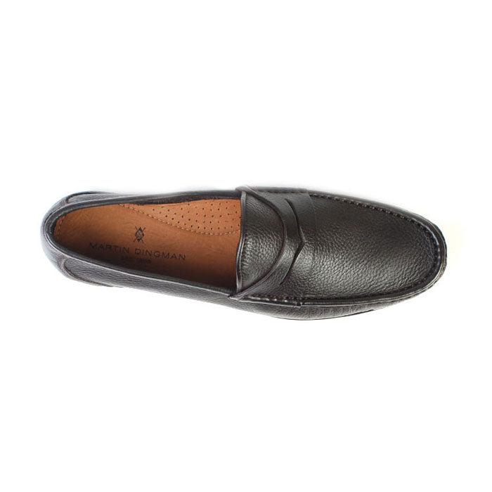 Addison Tumbled Glove Leather Penny Loafer - Walnut