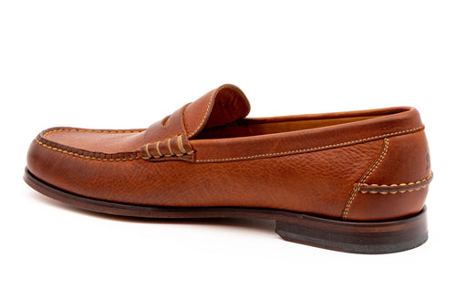 All-American Oiled Saddle Leather Penny Loafer - Chestnut