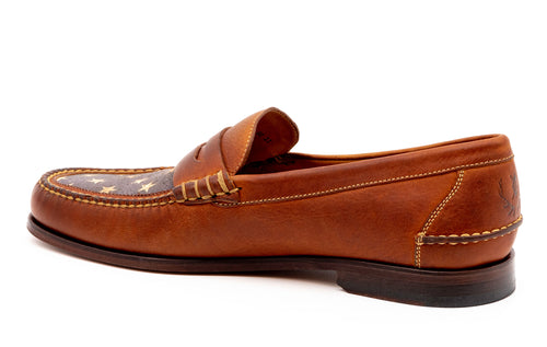All-American Oiled Saddle Leather Penny Loafer - American