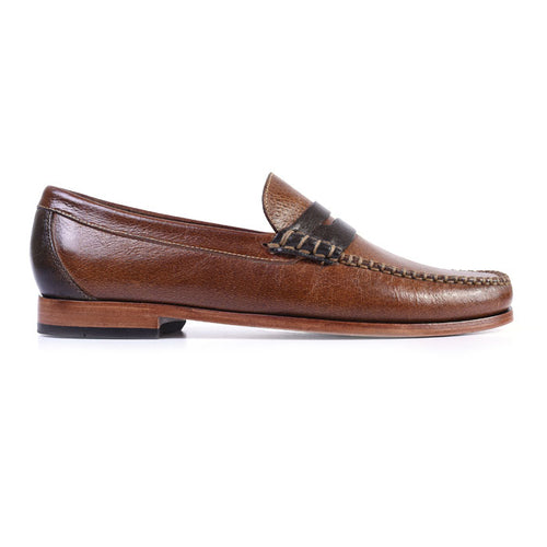 Maxwell Box Stitched Penny Loafer - Burnt Cedar