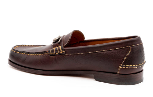 All-American Oiled Saddle Leather Horse Bit Loafer - Walnut