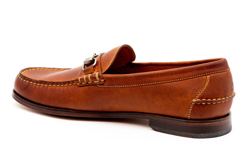 All-American Oiled Saddle Leather Horse Bit Loafer - Chestnut