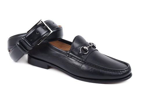 Addison Dress Calf Leather Horse Bit Loafer - Black