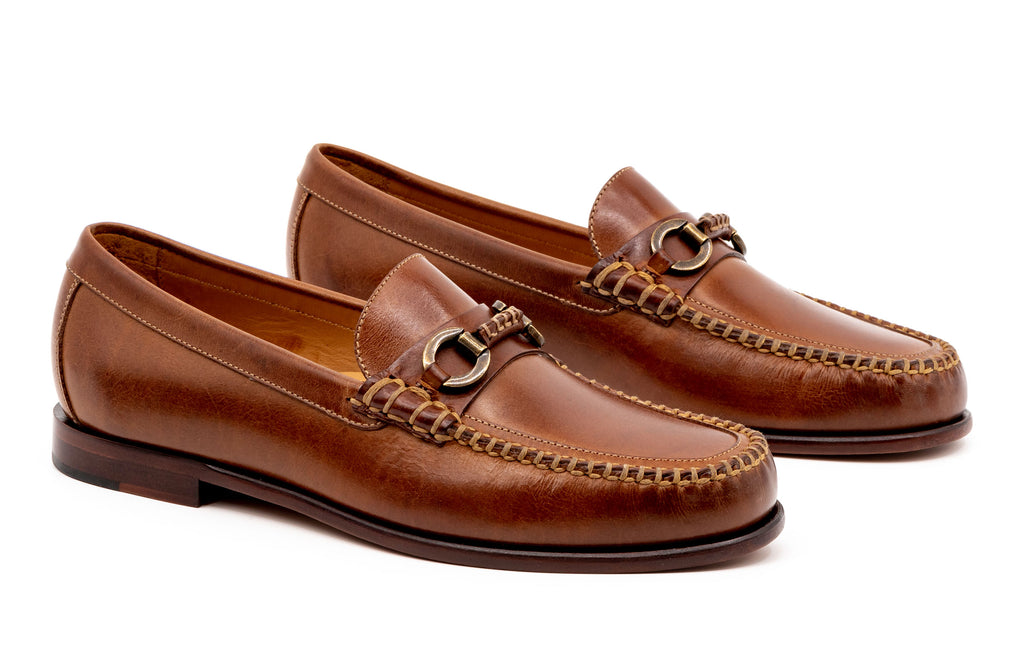 Old Row Oiled Saddle Leather Horse Bit Loafer - Cigar
