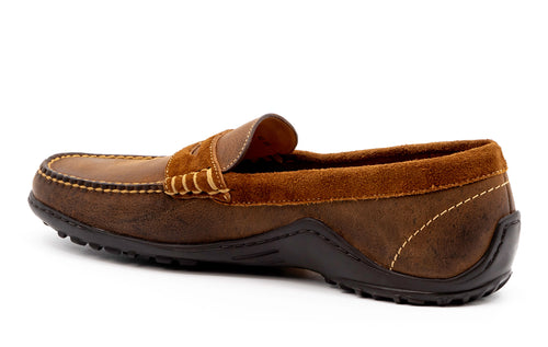 Bill Safari Wild African Kudu Penny Loafer - Mocha
