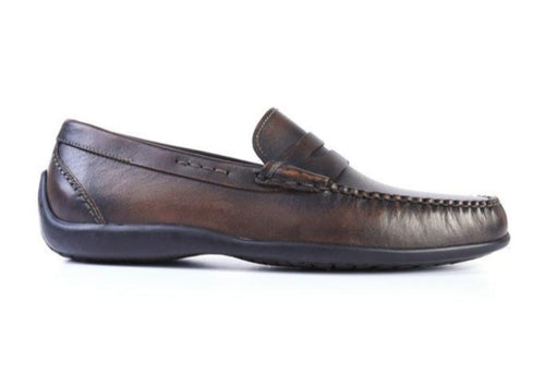 Saxon II Saddle Leather Penny Loafer - Black Oak