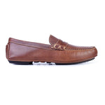 Old Row Oiled Saddle Leather Driving Penny Loafer - Cigar