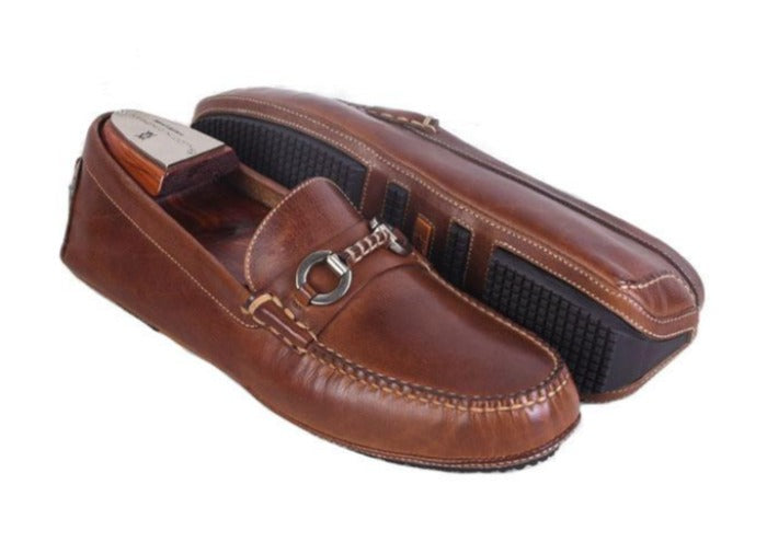 Old Row Oiled Saddle Leather Horse Bit Driving Loafer