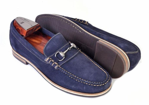 Montgomery Water Repellent Suede Horse Bit Loafer