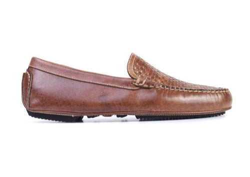 Old Row Oiled Saddle Leather Venetian Driving Loafer - Cigar