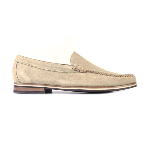 Montgomery Water Repellent Suede Venetian Loafer - Bone