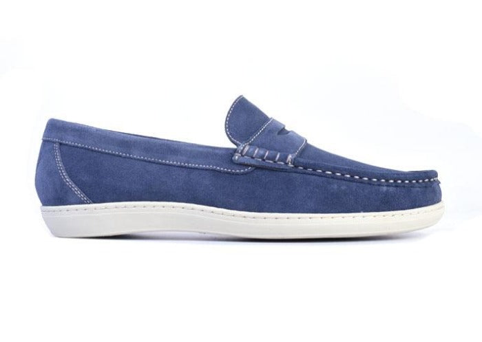 Thurston II Water Repellent Suede Penny Sport Loafer - Marine