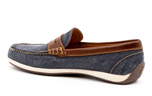 Seaside Washed Canvas Penny Loafer - Indigo