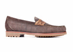 "Jackson ""X"" Stitch Penny Loafer - Walnut"