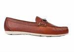 Jaden Oiled Saddle Leather Horse Bit Loafer - Chestnut