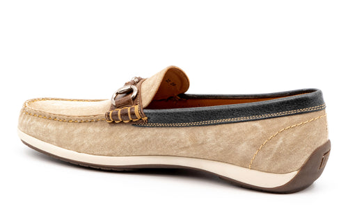Seaside Washed Canvas Horse Bit Loafer - Oyster