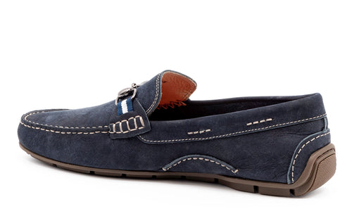 Bermuda Denim Nubuck Horse Bit Loafer - Navy