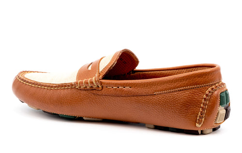 Monte Carlo Tumbled Glove Leather Penny Loafer - Almond Spectator