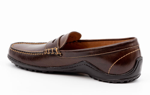 Bill Water Buffalo Leather Penny Loafer - Walnut