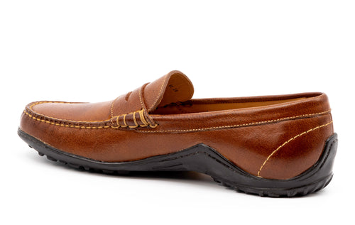 Bill Water Buffalo Leather Penny Loafer - Burnt Cedar