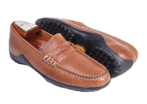 Bill Tumbled Glove Leather Penny Loafer - Bourbon