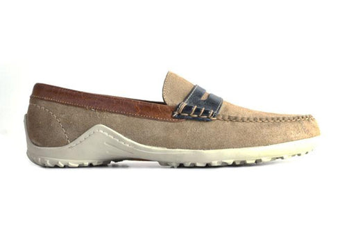 Bill Water Repellent Suede Penny Loafer - Sand