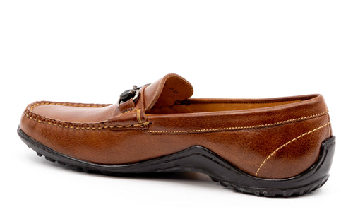 Bill Water Buffalo Leather Horse Bit Loafer - Burnt Cedar