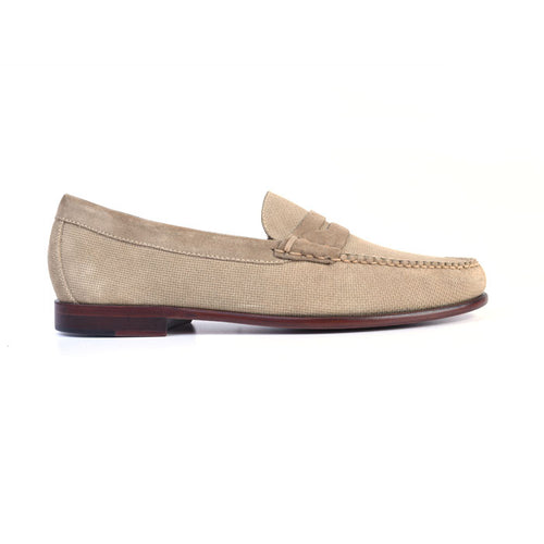 Old Row Water Repellent Suede Penny Loafer - Sand