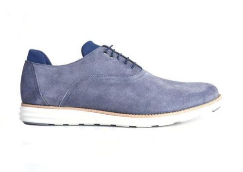 Countryaire Water Repellent Suede Plain Toe Sport lace-Up - Marine