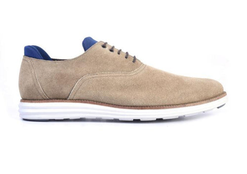 Countryaire Water Repellent Suede Plain Toe Sport Lace-Up - Sand