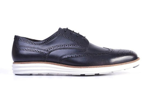 Countryaire Saddle Leather Wingtip Sport Lace Up - Black