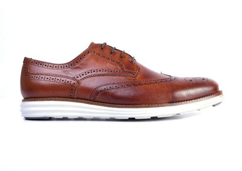 Countryaire Saddle Leather Wingtip Sport Lace-Up - Whiskey