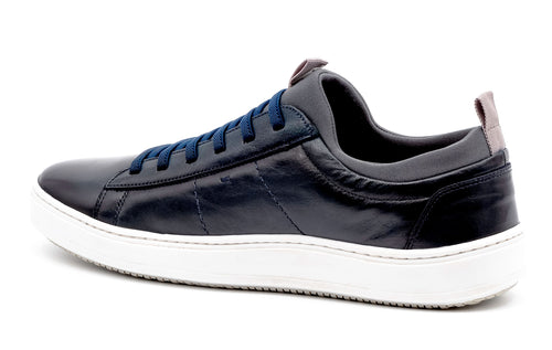 Cameron Hand-Finished Sheep Skin Sneaker - Navy