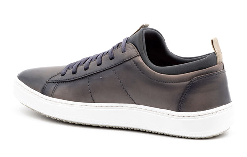 Cameron Hand-Finished Sheep Skin Sneaker - Slate